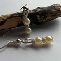 Earrings Office cream and greys