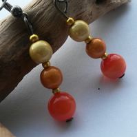 Earrings Orange Moons