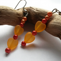 Earring  Orange Love