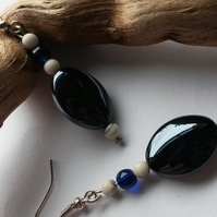 Earrings Obsidium