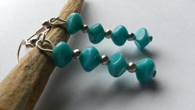 Earrings Might be turquoise