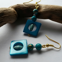 Earrings Turquoise Shapes