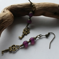 Earrings Industrial purple