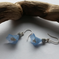 Earrings Kissed in blue