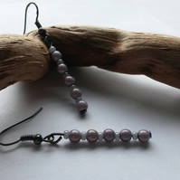 Earrings Wishes. Beautiful pale purple beads.