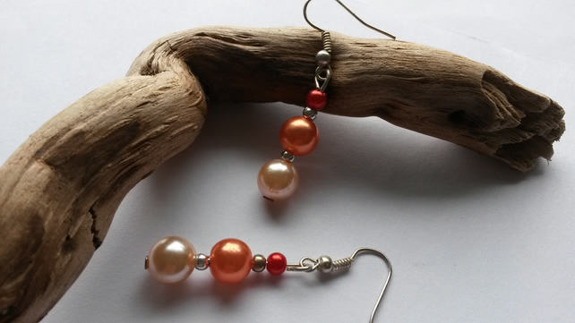 Earrings Lytham Sunrise pale beads