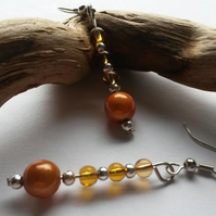 Earrings Tangerine