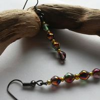 Twinkle -  beautiful multi coloured beaded dangle earrings