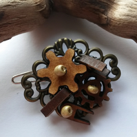 Hair clip Wooden Cogs
