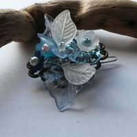 Little pale blue hair clip