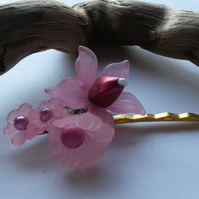 Bobby Pin Pink Flowers