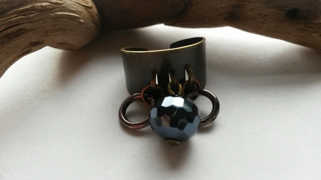 Ring blue with rings