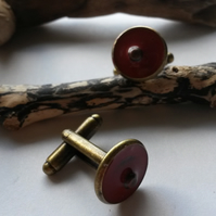 Cufflinks Burnt Orange