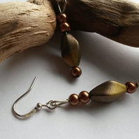 Earrings Fay in browns
