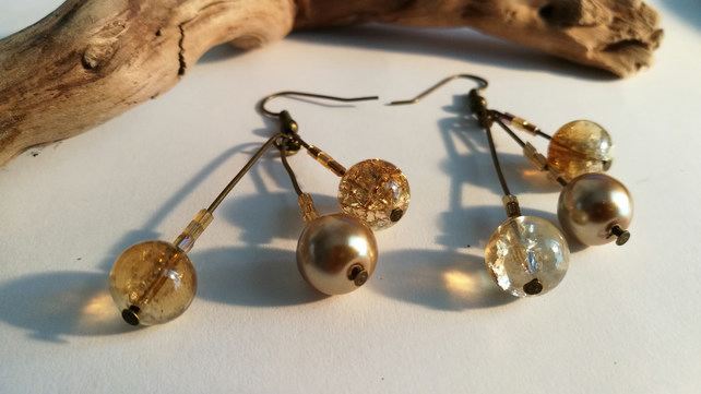 Earrings Golden Balls