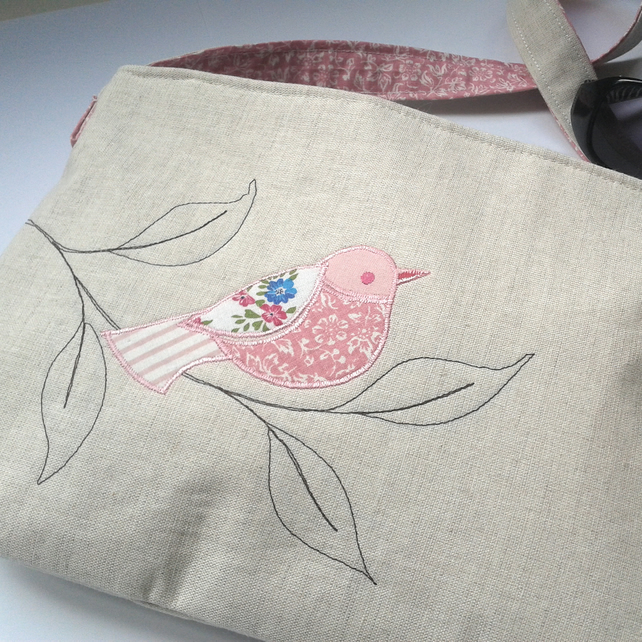 Jeanie Bag - Pink Bird