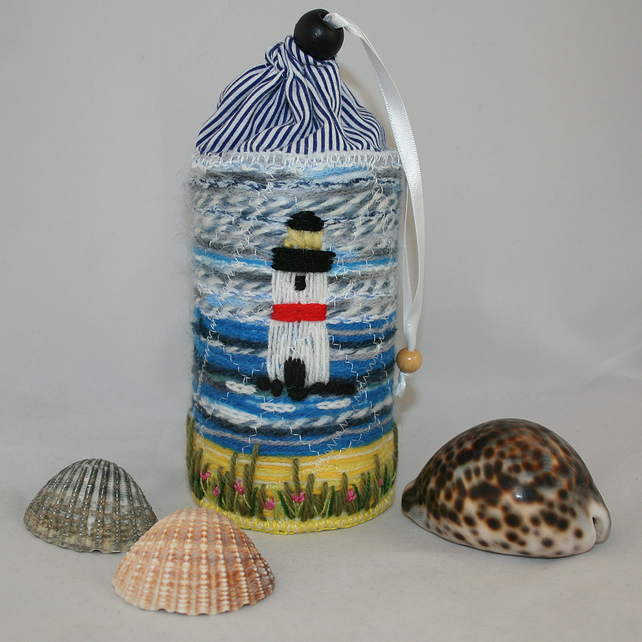 Storage Container - Embroidered Lighthouse