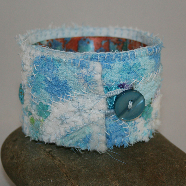 Embroidered Cuff - Turquoise