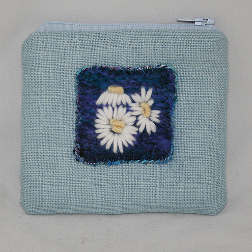 SALE - Blue Daisies Purse