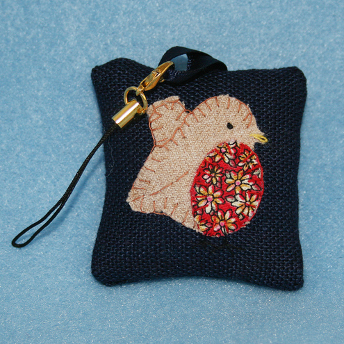Embroidered Fob - Robin
