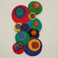 Embroidered Hanging - Circles in Felt