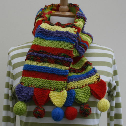 SALE - Bright stripes with bobbles