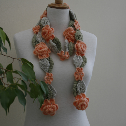 SALE  - Rambling rose scarf