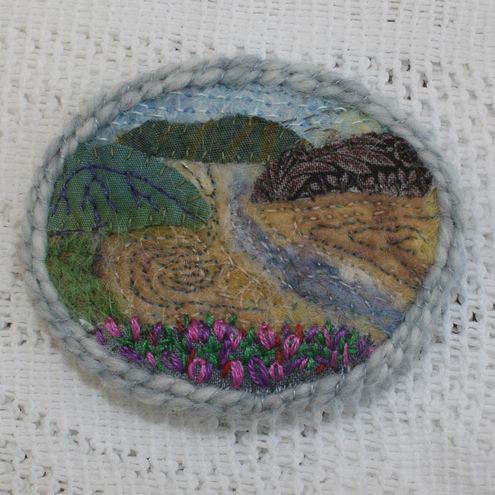 Estuary at Low Tide  - brooch
