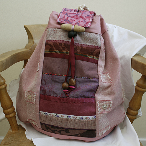 RESERVED FOR DODO - Pink Patchwork Duffle Bag