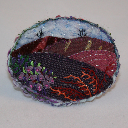 Winter Heather - Brooch