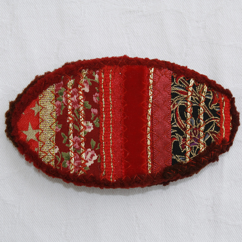 Red Patchwork - Barrette/Hair Clip