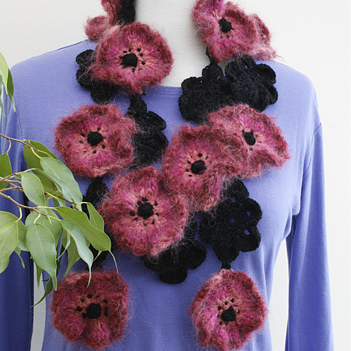 NOW 25% OFF -Pink Poppy Scarf