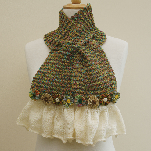 NOW 25% OFF - Green Keyhole Scarf