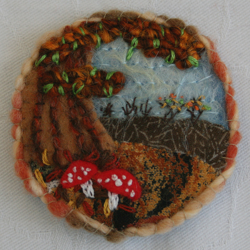 Autumn Fungi Brooch