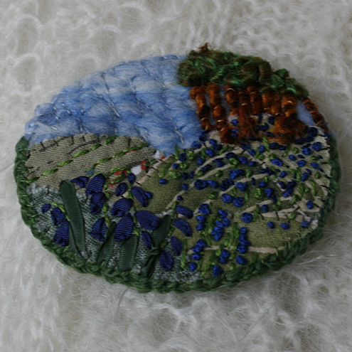 Bluebell woods - brooch