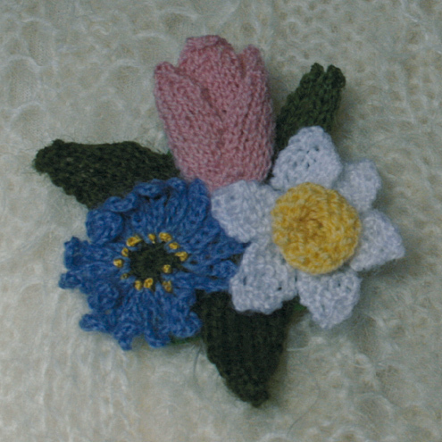 Spring flowers - brooch
