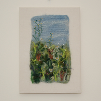 Meadow - Felted and Embroidered Wall Art