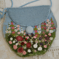 Garden - Embroidered and Felted Bag