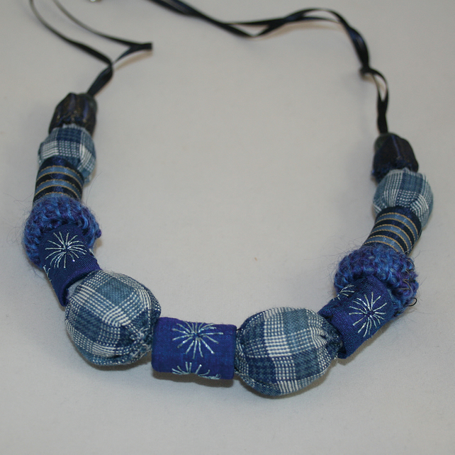 Necklace of Textile Beads