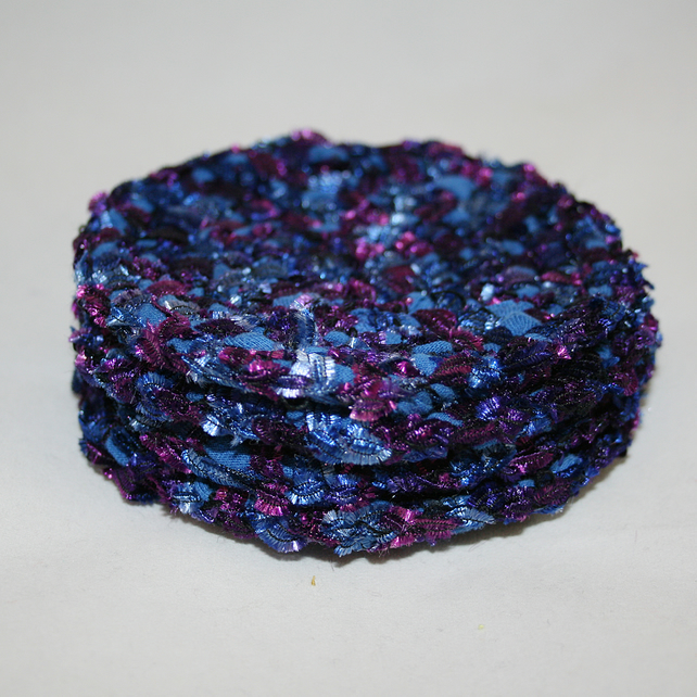 Coasters - Crocheted and recycled