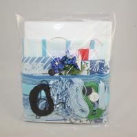 Blue Inspiration Pack 01 - Fabrics, Fibres and Embellishments