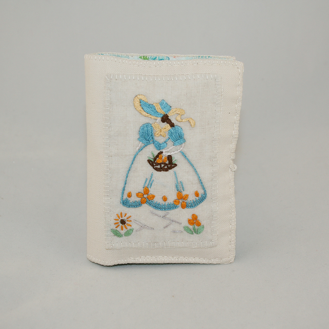 Vintage Embroidery Card Case or Wallet