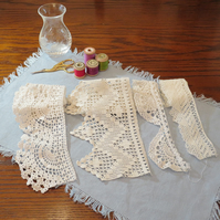 4 lengths of vintage lace