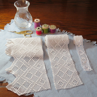 3 lengths of vintage lace
