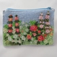 Embroidered Summer Garden Zipped Purse