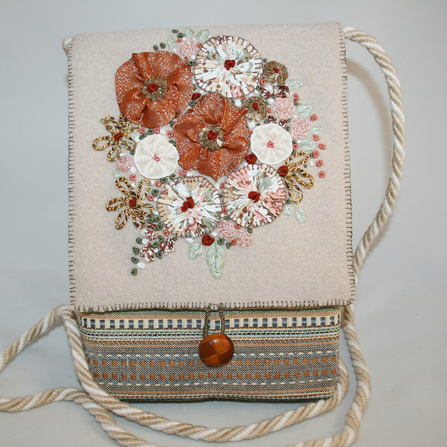 SALE Embroidered Cross-Body, Messenger Bag