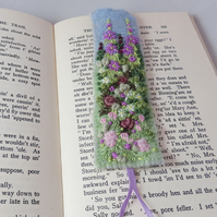 Embroidered Bookmark - Lilac Rose Garden