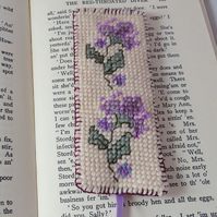 SALE - Needlepoint Bookmark - hand stitched by Lynwoodcrafts