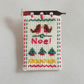 Christmas Brooch - Miniature sampler