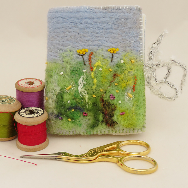 Meadow Needle Book - Embroidered and felted
